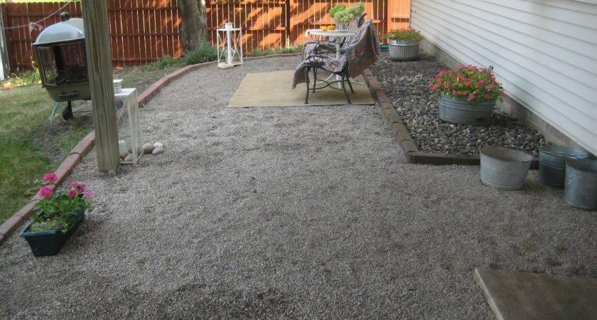 Happy Home New Gravel Patio