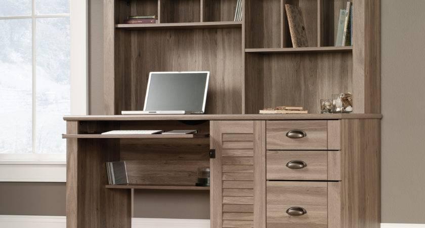 Harbor Computer Desk Hutch Sauder