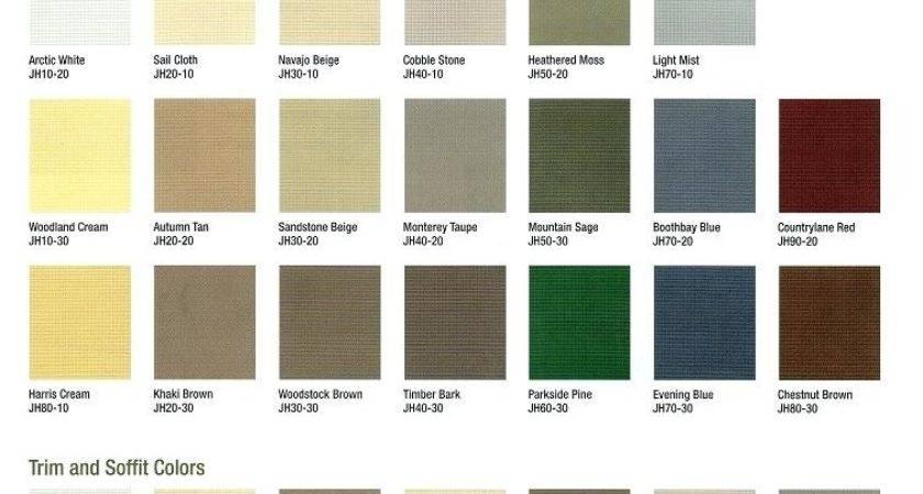 Hardiplank Siding Color Chart Hardie Plank
