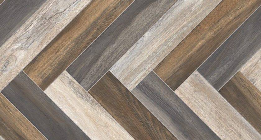 Herringbone Multi Coloured Parquet Sheet Vinyl