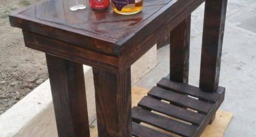 Herringbone Pallet Table Pallets