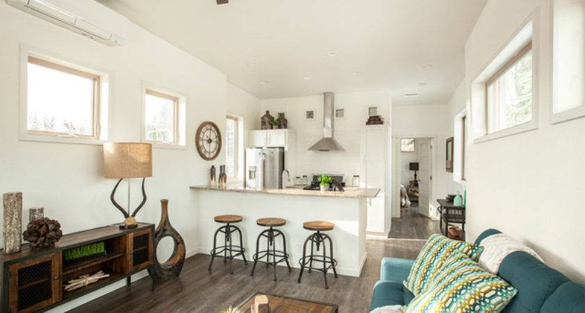 Hgtv Tiny House Hunters Transitional Living Room