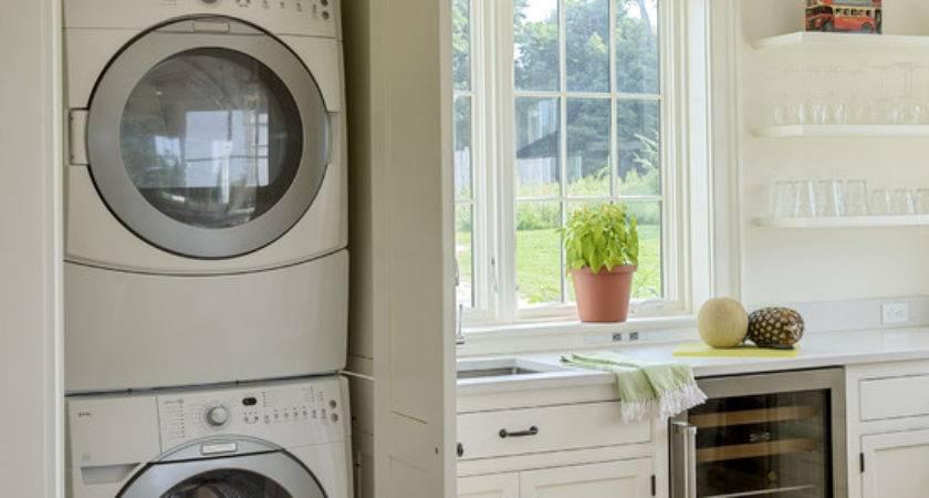 Hide Away Washer Dryer Kitchen Design Ideas Photos