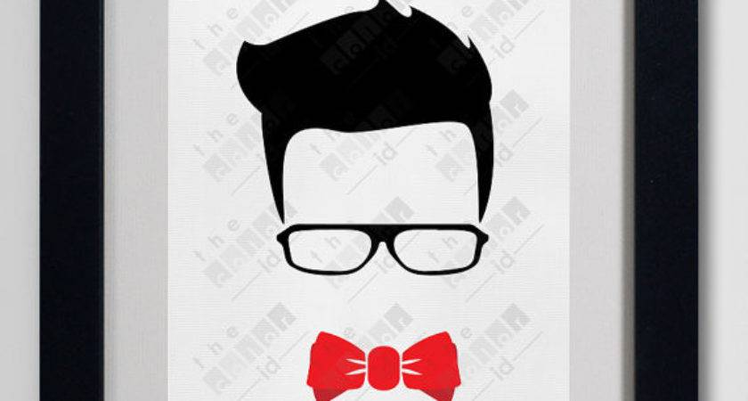 Hipster Man Wall Art Poster