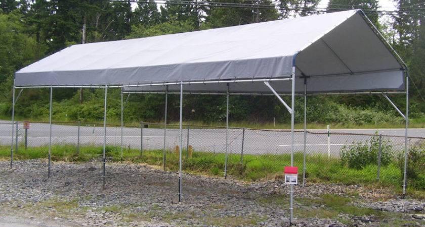 Hiscoshelters Temporary Portable Garage