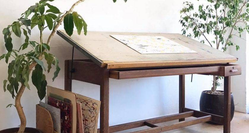 Home Closet Vintage Drafting Table