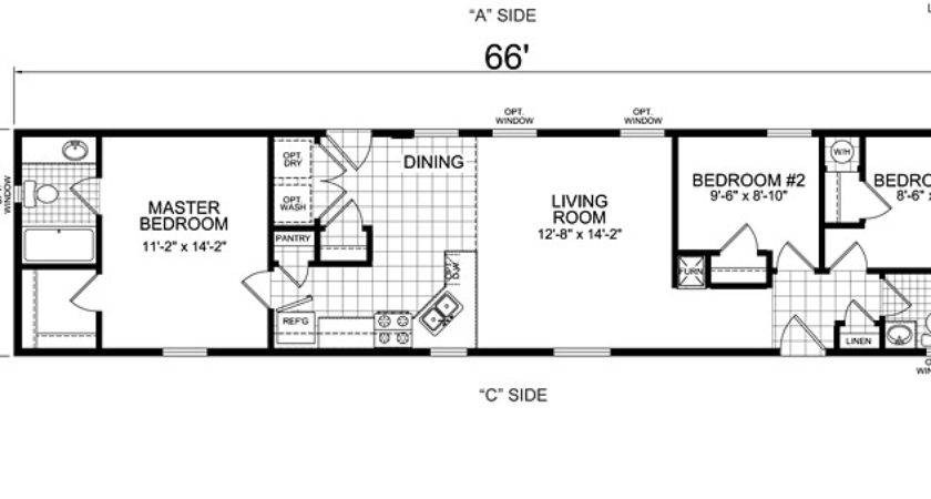 Home Design Ideas Single Wide Mobile Plans