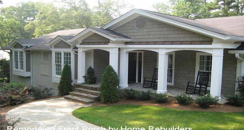 Home Designs Porches Front Porch Ideas Ranch