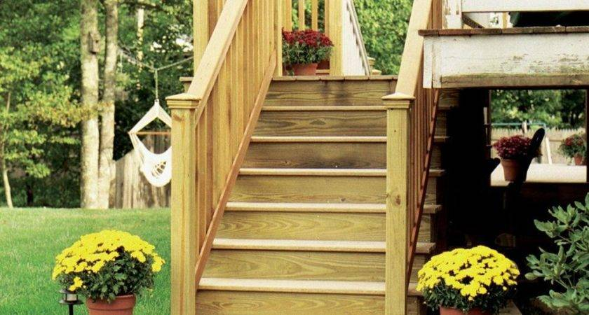 Homedepot Premade Deck Stairs Homy Rustic Pathway
