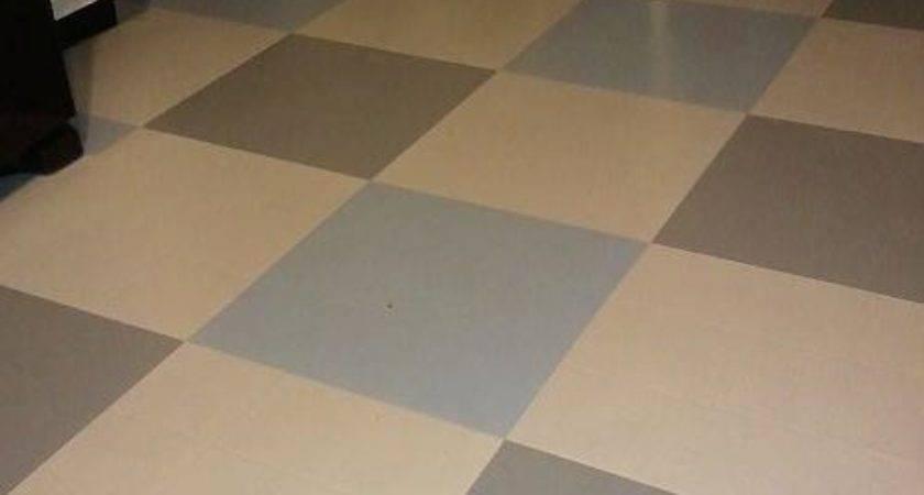 Hometalk Painted Vinyl Floor