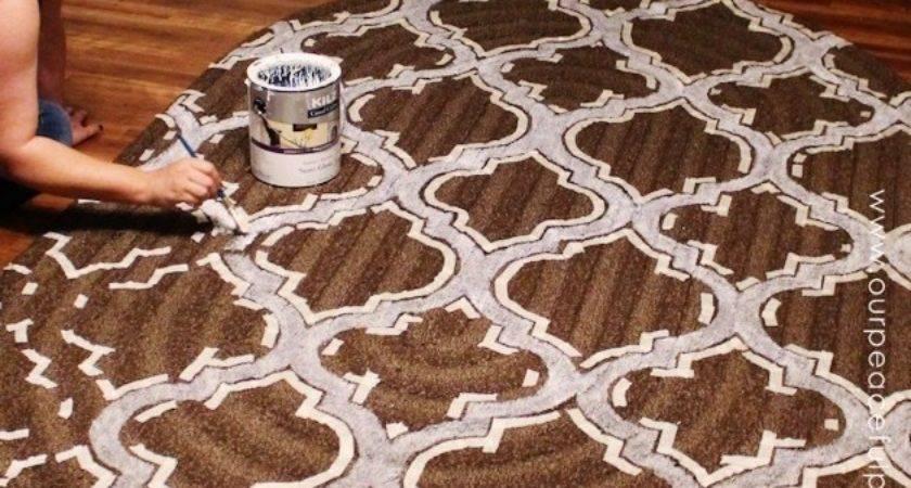 Hometalk Stencil Paint Carpet
