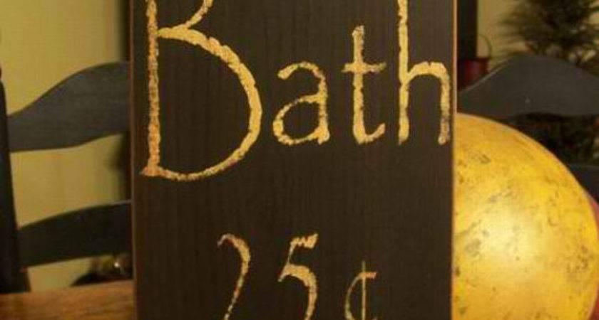 Hot Bath Sign Primitive Daisypatchprimitives