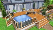 Hot Tub Deck Design Ideas