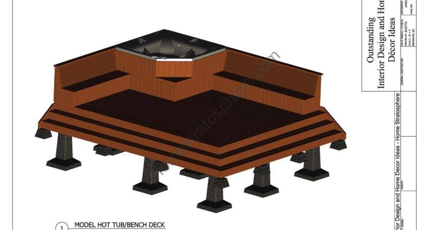 Hot Tub Deck Design Plan Pdf