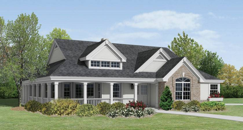 House Plan Large Porch Home Design Style