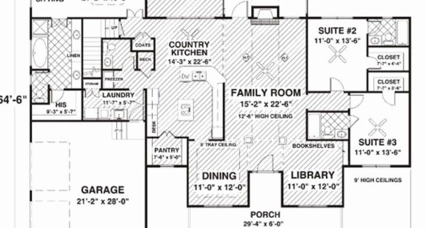 House Plans Kitchen Facing Front
