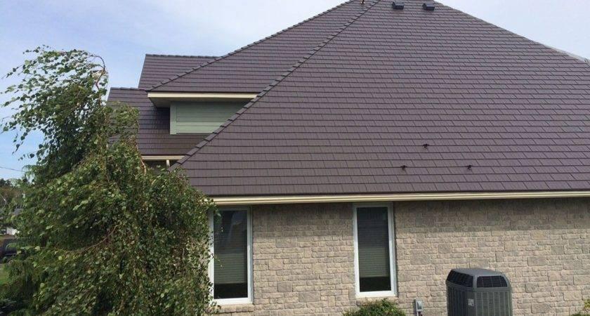 Houses Brown Metal Roofs