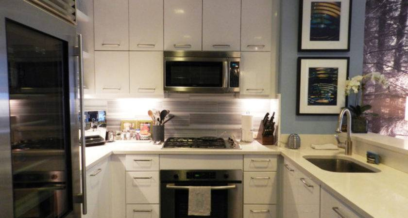 Houzz Bachelor Nyc Pad Contemporary Kitchen