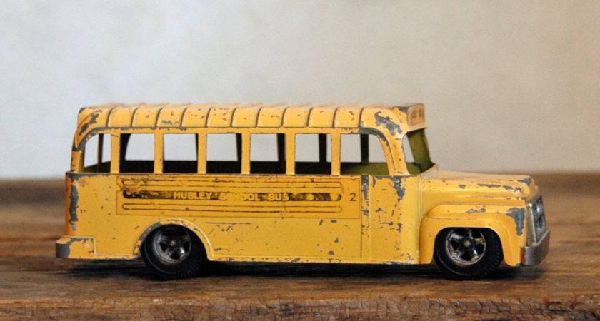 Hubley School Bus Vintage Diecast Toy