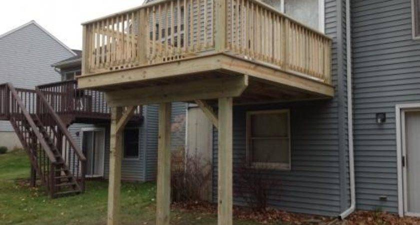 Hung Pressure Treated Deck Complete Otterbeck Builders