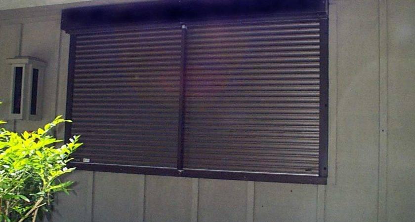 Hurricane Shutter Types Automatic Rolldown Shutters Door