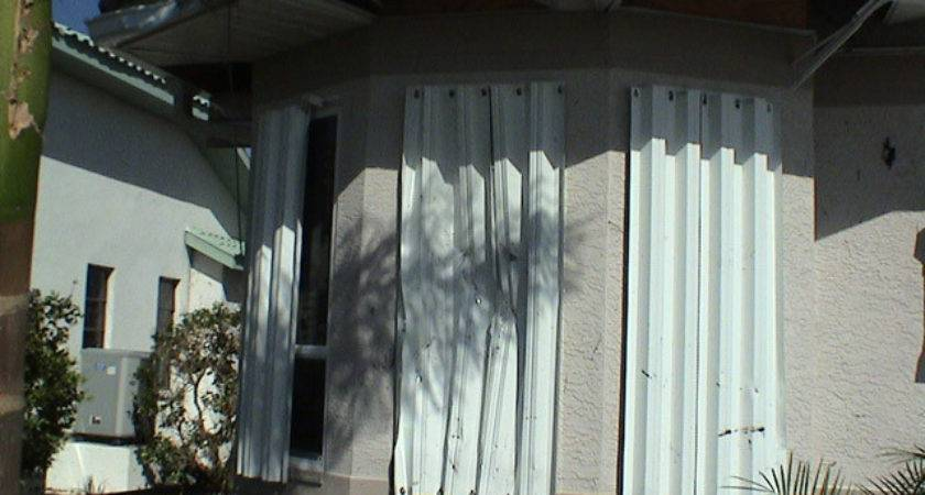 Hurricane Shutters Work Windward
