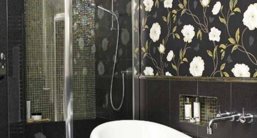 Ideas Bathrooms Grasscloth