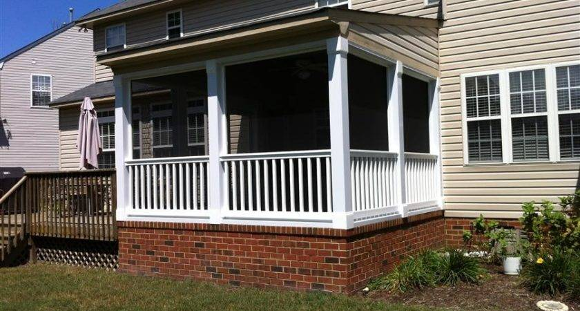 Ideas Best Decoration Enclosed Back Porch