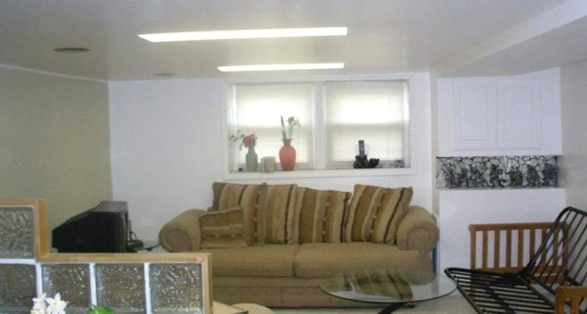 Ideas Decorating Basements Low Ceilings