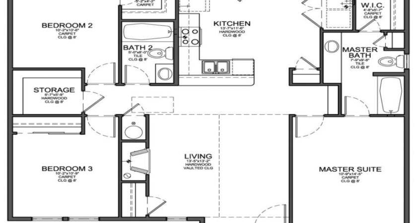 Ideas Kitchen Small Two Bedroom House Plans Low Cost
