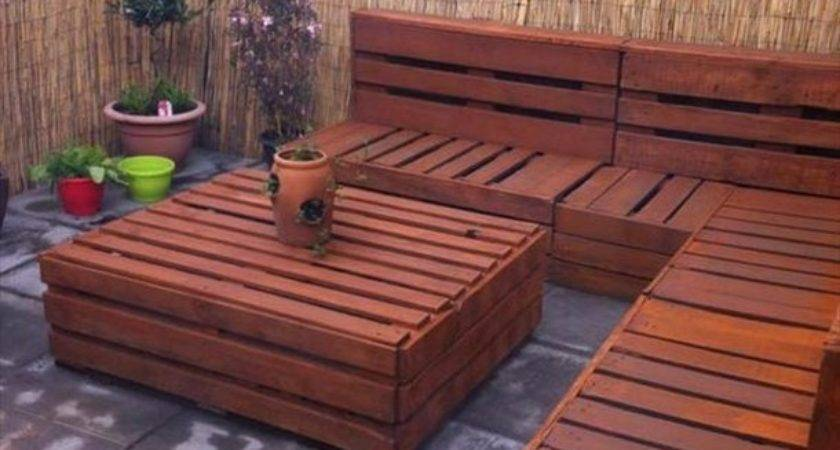 Ideas Pallet Patio Furniture