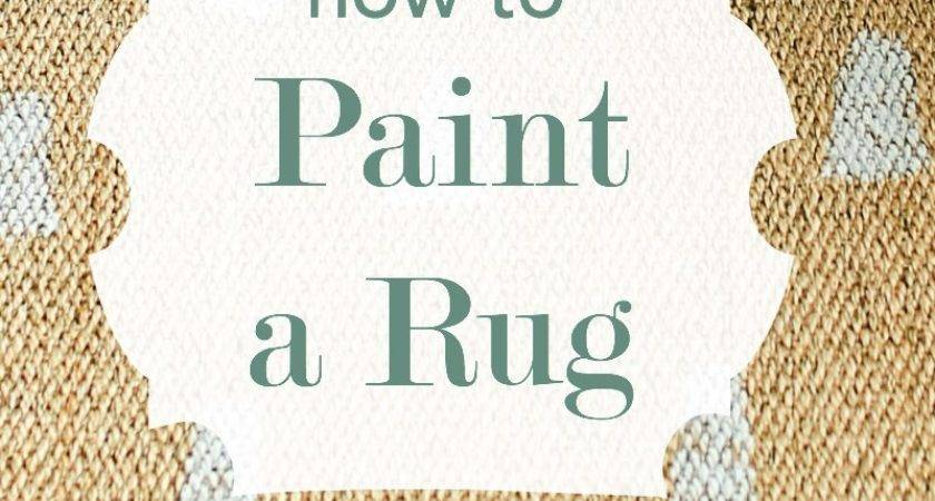 Ikea Rug Hack Paint