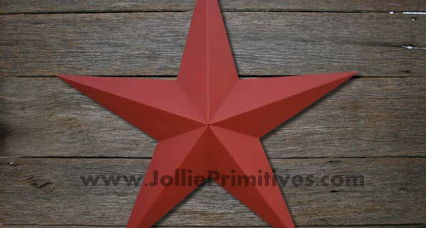 Inch Metal Stars Painted Heavy Duty Galvanized Amish