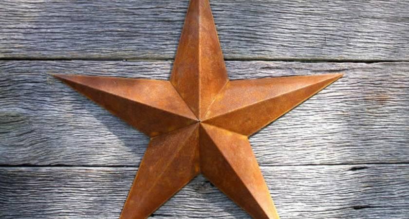 Inch Rusty Metal Star Heavy Duty Amish Barn Stars