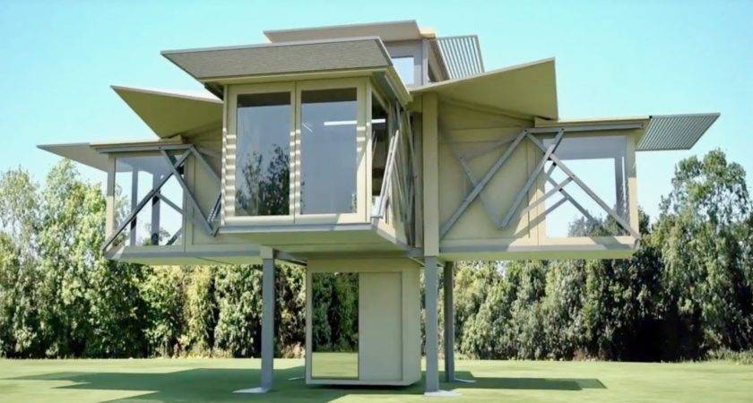 Incredible Pre Fab Folding Houses Expand Their