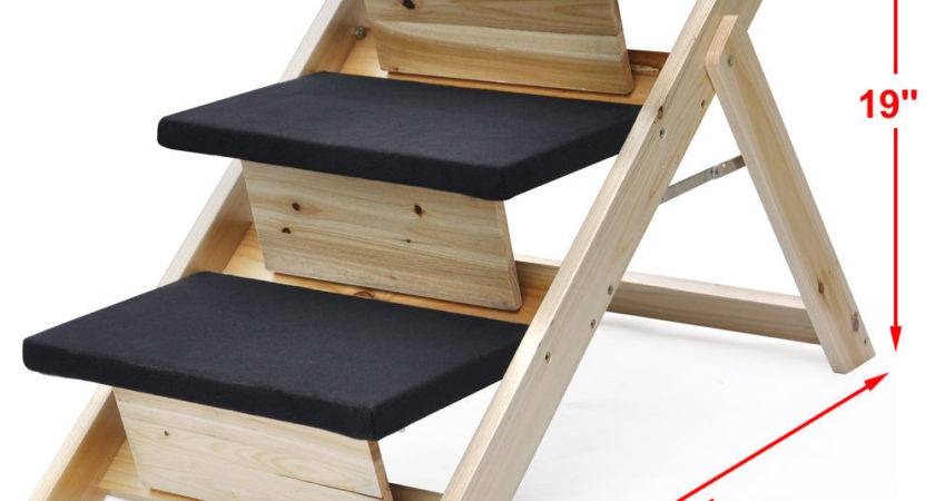 Indoor Outdoor Folding Portable Pet Stairs Cat Dog