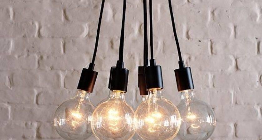 Industrial Bulb Pendant Midcentury Lighting