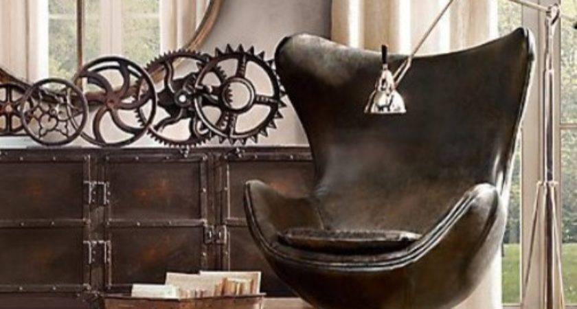 Industrial Decor Living Room Los Angeles