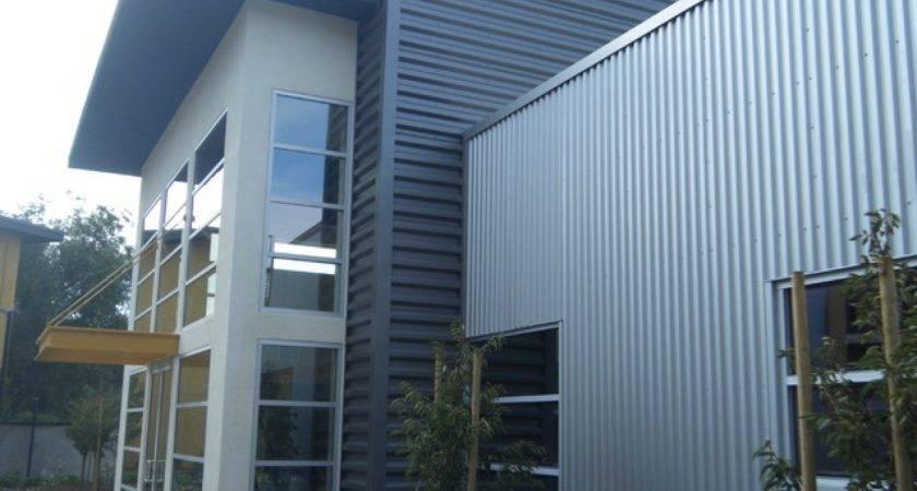 Industrial Room Design Homes Corrugated Metal Siding