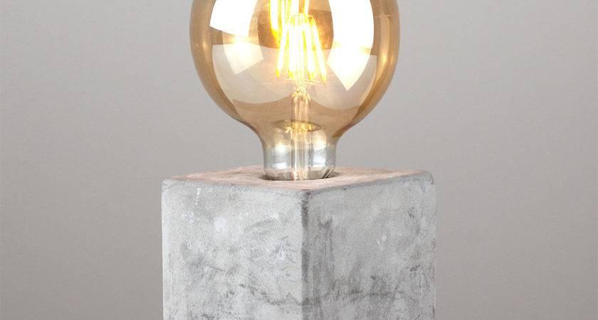 Industrial Style Concrete Cement Cube Edison Table Lamp