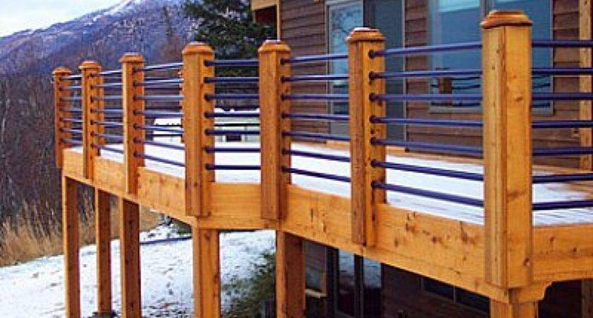 Inexpensive Patio Designs Horizontal Deck Railing Ideas