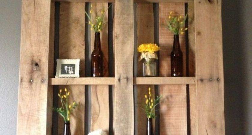 Ingenious Wooden Pallet Shelves Ideas Small House Decor