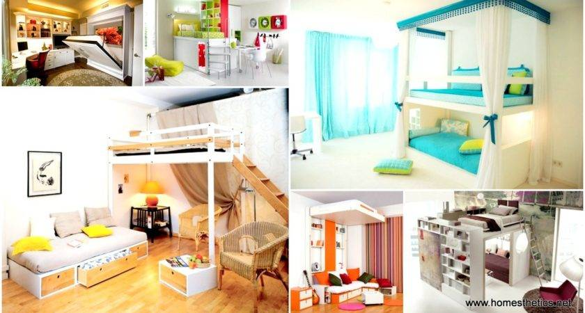Ingeniously Smart Functionable Bedroom Space Saving