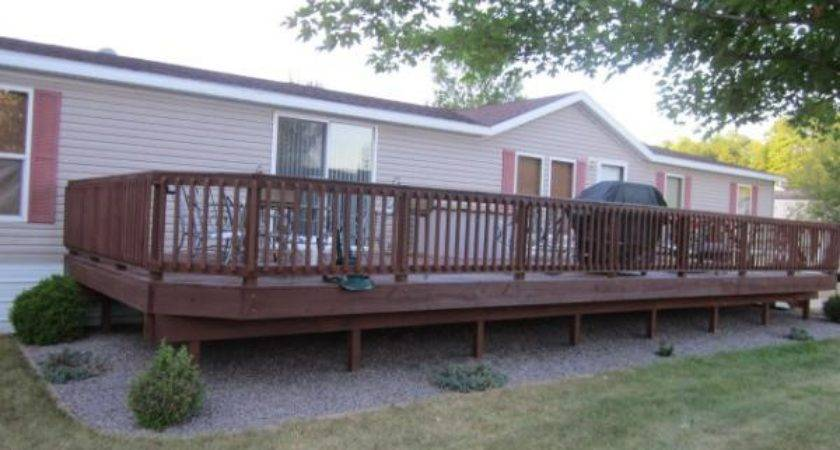 Inspiring Mobile Home Deck Double Wide