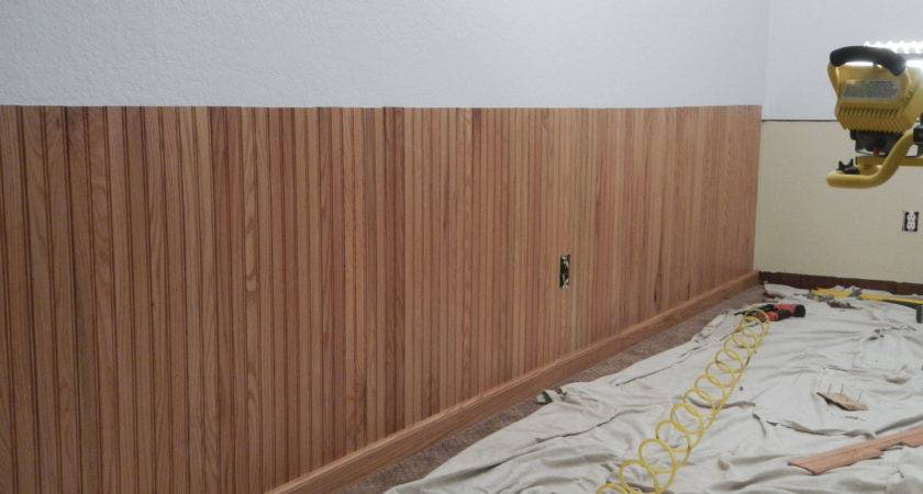 Install Bead Board Wainscoting