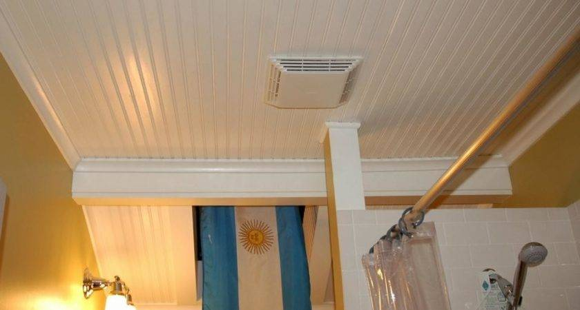 Install Beadboard Bathroom Ceiling
