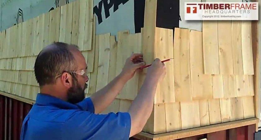 Install Cedar Shingles Weaved Corner Youtube