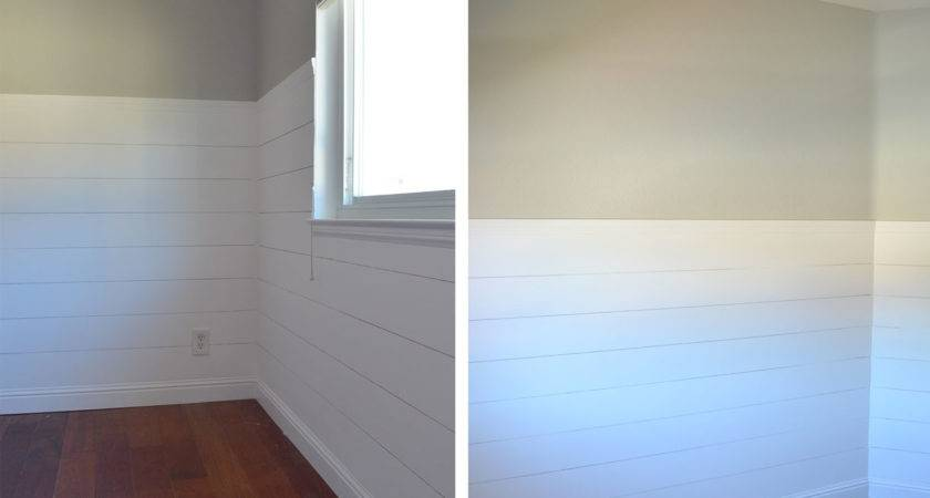 Install Faux Shiplap Shade Teal
