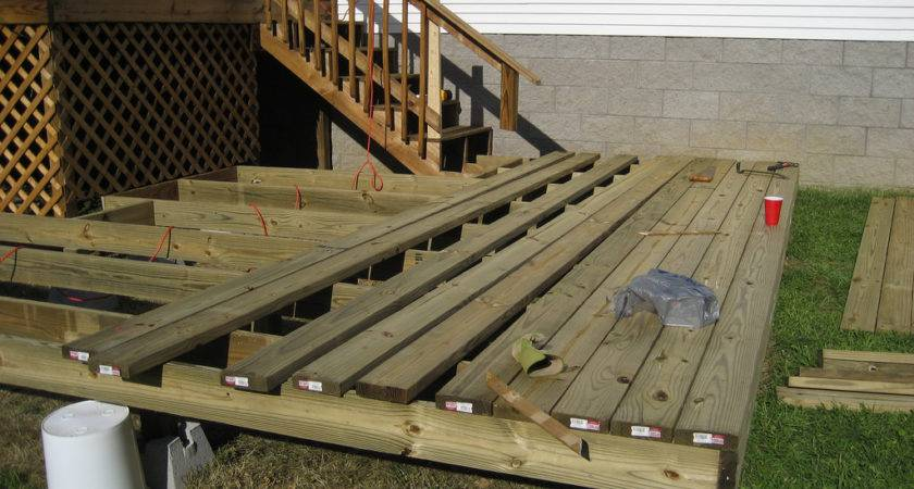 Install Floating Deck Footings Doherty House Creating