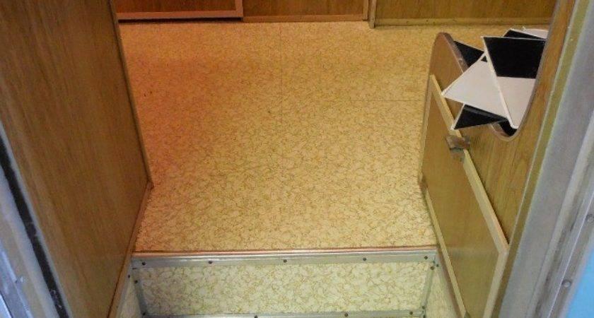 Install Flooring Vintage Trailer Eileen Hull